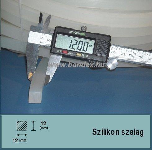 12 x 12 mm szilikon szalag