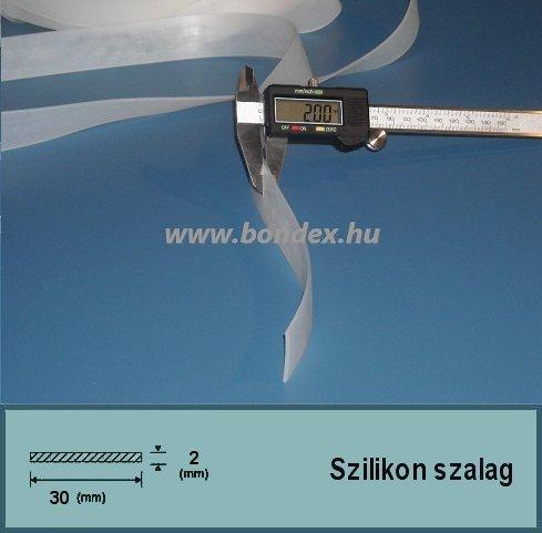 30 x 2 mm szilikon szalag