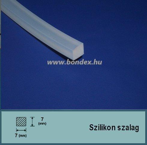 7 x 7 mm szilikon szalag