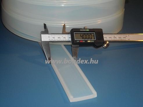 szilikon élvédő profilok 40 mm