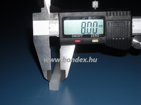 10. szilikon D profil ( 8 mm szélességben )