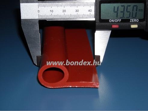 """Nagy hőállóságú kemence ajtó szigetelő szilikon profil ( 13x19 """"P"""" szilikonprofil ) 98."""