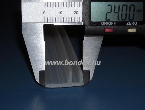 Zuhanykabinajtó szilikon élvédő gumi (5x14 mm) 105.