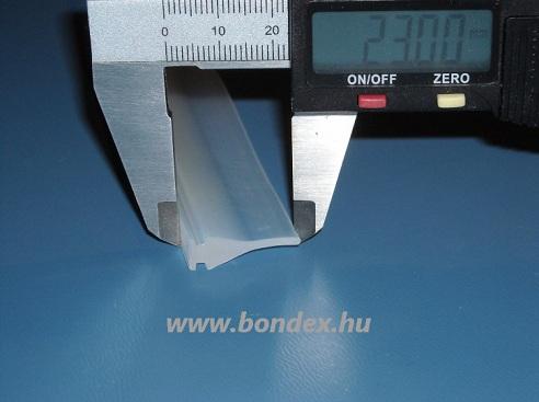 Szilikon tömítő profil tolóajtóhoz (7 x 23 mm) 114.