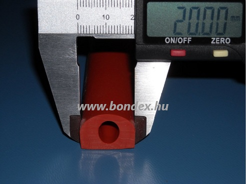 31. Magas hőállóságú szilikon kemence tömítés (hőálló D profil)