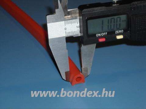 32. Magas hőállóságú szilikon kemence tömítő D profil 11x10 mm / d5mm