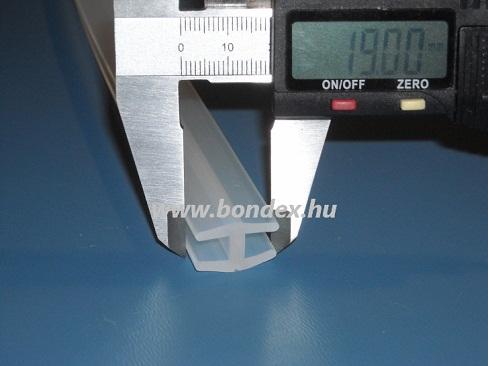 """Hézagtakaró és réstömítő szilikon """"H"""" profil 6 mm élhez"""