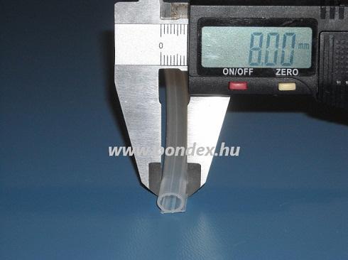 Ragasztható szilikon ablaktömítő omega profil (6x8mm)