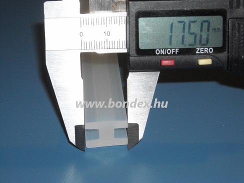 """Szilikon """"H"""" profil 5 mm élhez (réstakaró- hézagtömítő)"""
