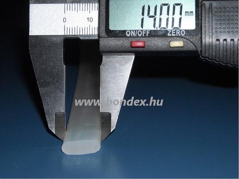 Íves szilikon szalag ( kerekített hőálló tömítő profil )