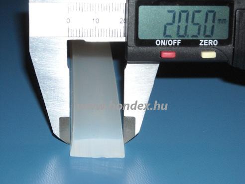 Hőálló szilikon trapéz profil