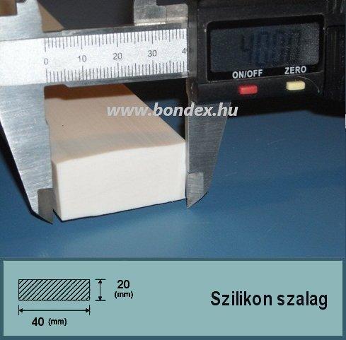 20 x 40 mm szilikon szalag