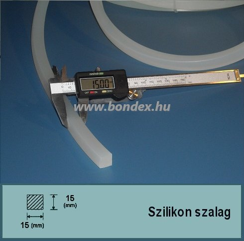 15x15 mm négyzetes szilikon szalag (négyzet alakú)