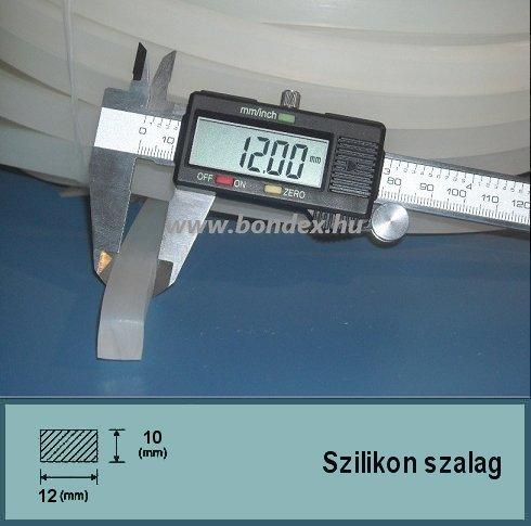 12x10 mm szilikon szalag (téglalap alakú)