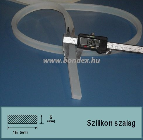 15x5 mm szilikon szalag (téglalap alakú)