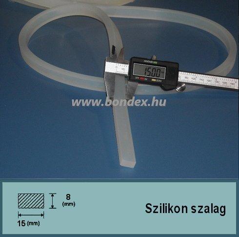 15x8 mm szilikon szalag (téglalap alakú)