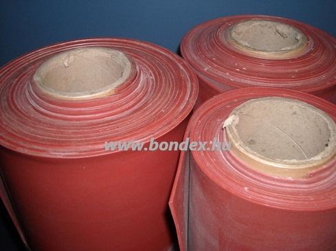 1200 mm széles hőálló oxidvörös szilikon szalag lv.0.5 mm
