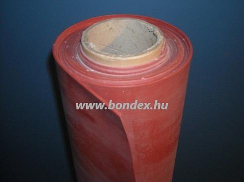 1200 mm széles hőálló vörös szilikon tekercs lv.1 mm