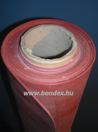 1200 mm széles hőálló vörös szilikon tekercs lv.3 mm