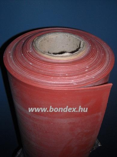 1200 mm-es hőálló szilikon tekercs vörös színben lv.5 mm