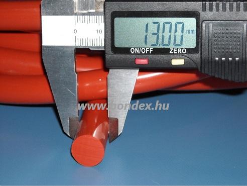 13mm nagy hőállóságú vörös szilikonzsinór
