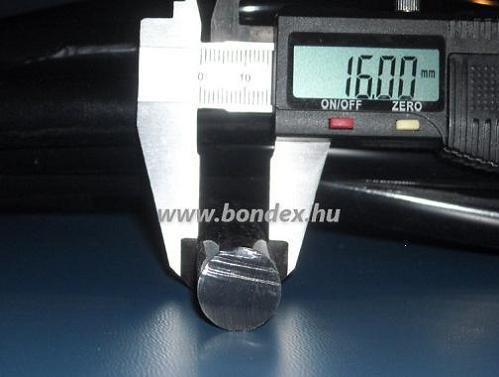 16mm hőálló fekete szilikon zsinór