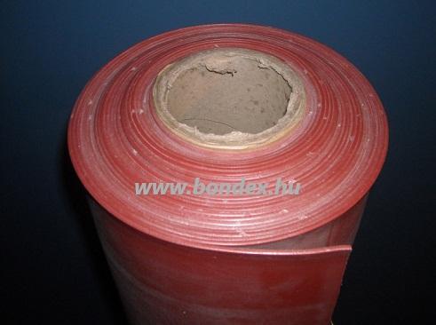 1200 mm széles hőálló vörös szilikon tekercs lv.12 mm