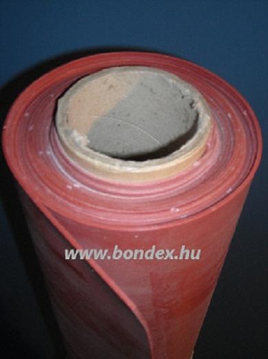 1200 mm széles hőálló vörös szilikon tekercs lv.0.5 mm