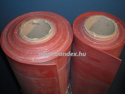 1200 mm széles hőálló oxidvörös szilikon szalag lv.1 mm