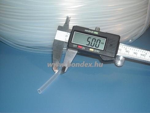 4x5 mm szilikon szigetelő cső