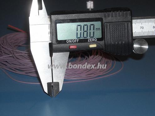 0,5x0,8 mm szilikon szigetelő cső