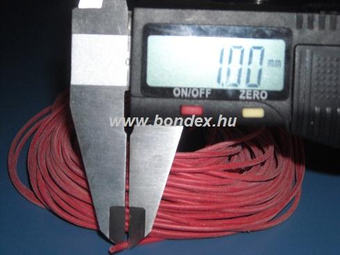 0,5x1 mm szilikon szigetelő cső (izoláló cső)