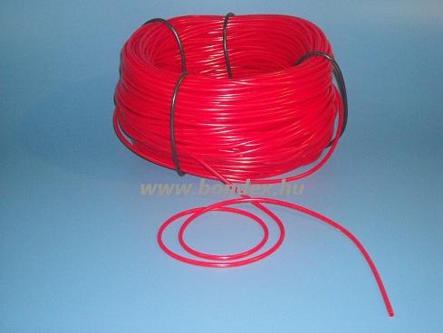 2x3 mm szilikon izoláló cső (piros)