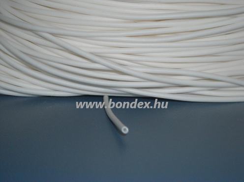 2 x 3 mm szilikon izoláló cső (fehér)