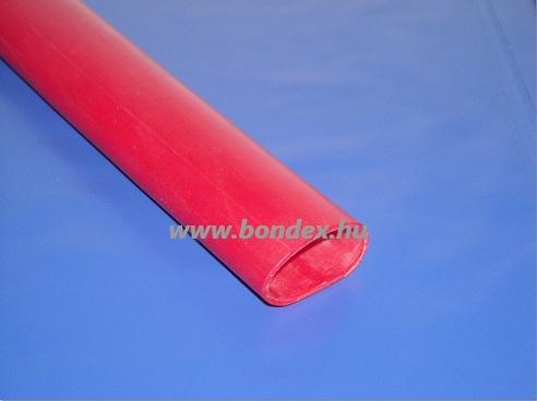 10 x 12 mm szilikon izoláló cső  (piros)
