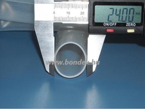 22 x 24 mm szilikon szigetelő cső (izoláló cső)