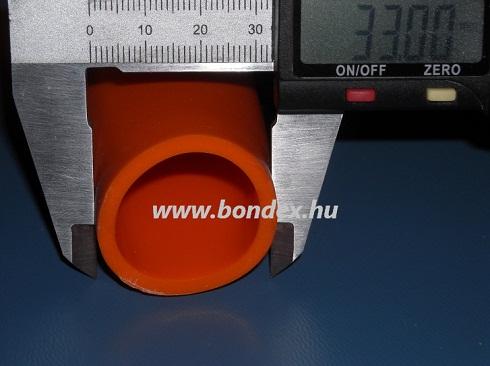 28 x 33 hőálló szilikon izoláló cső (oxidvörös)