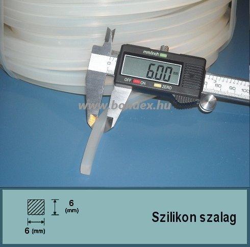 6x6 mm fóliahegesztő szilikon szalag