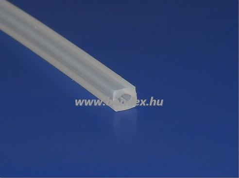 4x4 mm hőálló fóliahegesztő szilikon profil
