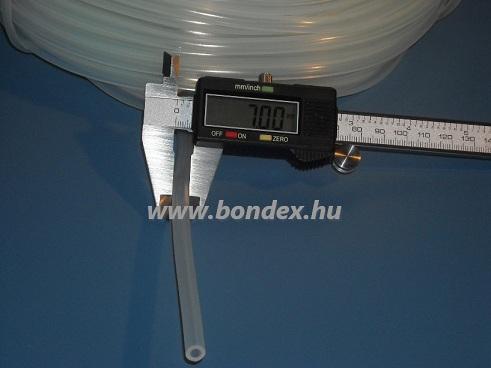 3x7 mm élelmiszeripari szilikon cső