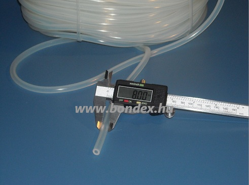 6x8 mm élelmiszeripari szilikon cső