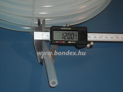 6x12 mm élelmiszeripari szilikon cső