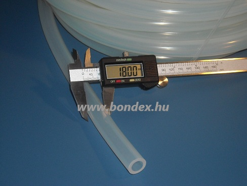 10x18 mm élelmiszeripari szilikon cső