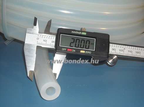10x20 mm élelmiszeripari szilikon cső