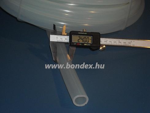18x24 mm élelmiszeripari szilikon cső