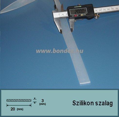 3x20 mm fóliahegesztő szilikon szalag