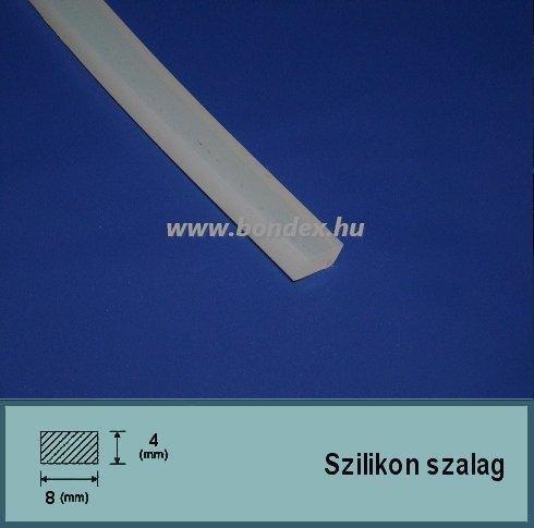 4x8 mm fóliahegesztő szilikon szalag