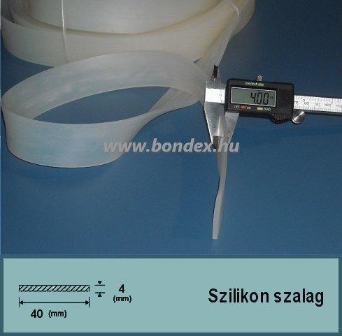 4x40 mm fóliahegesztő szilikon szalag