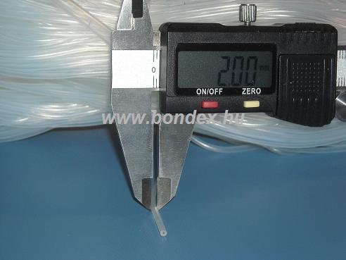 0,5x2 mm élelmiszeripari minőségű szilikon cső