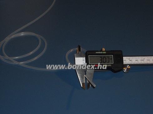 1x3 mm élelmiszeripari minőségű szilikon cső